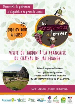 Image Visite du jardin à la Française du château de Jallerange