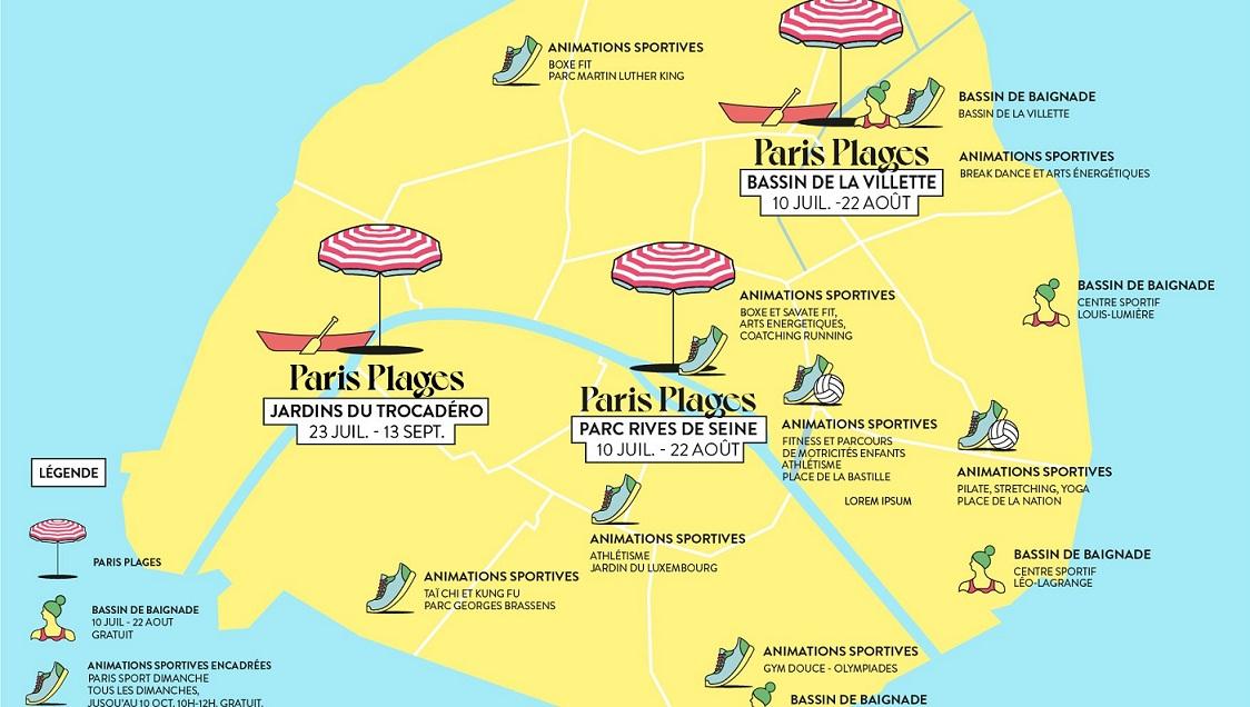 Image Paris plages 2021 - Les jardins du Trocadéro