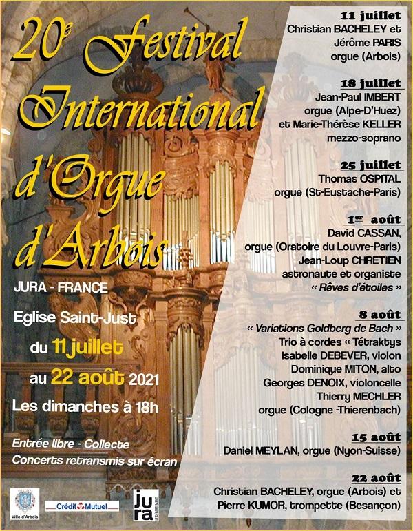 Image 20ième festival international d'orgue d'Arbois