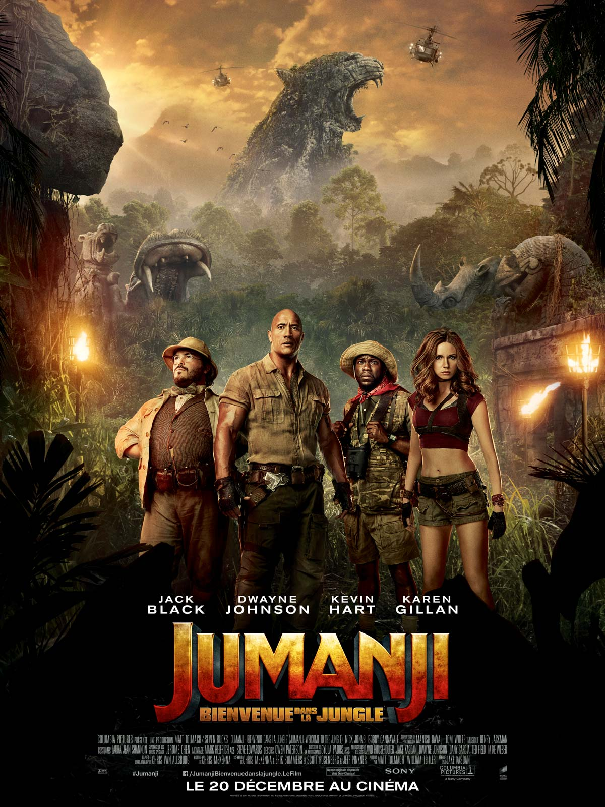 Image Projection en plein air du film : Jumanji