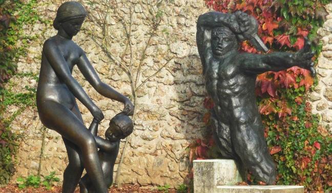 Image Le jardin des bronzes de la fondation de Coubertin